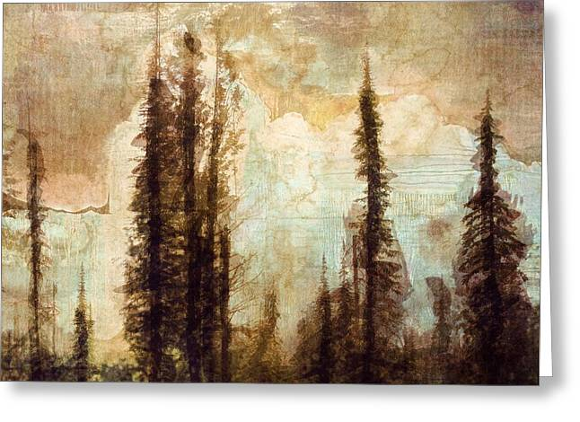The Waters Stood Above The Mountains Greeting Card