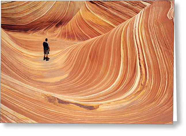 The Wave Coyote Buttes Pariah Canyon Greeting Card by Panoramic Images