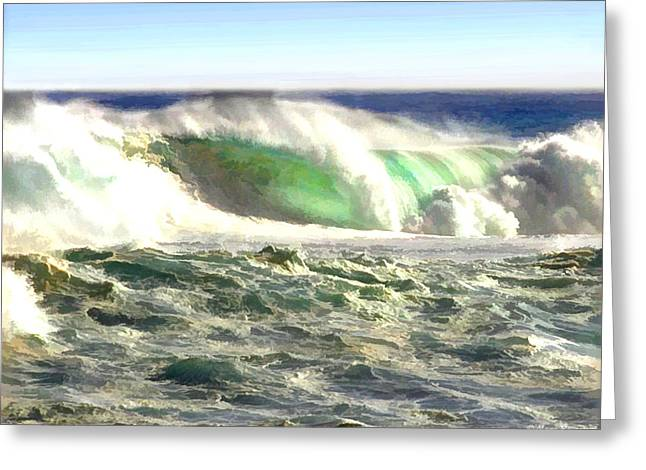The Wave Greeting Card by Elaine Plesser
