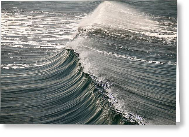 Greeting Card featuring the photograph The Wave by John Babis
