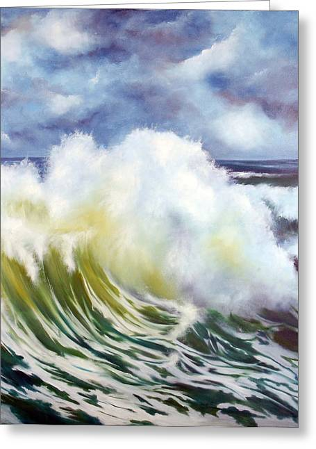 The Wave Greeting Card by Neil Kinsey Fagan