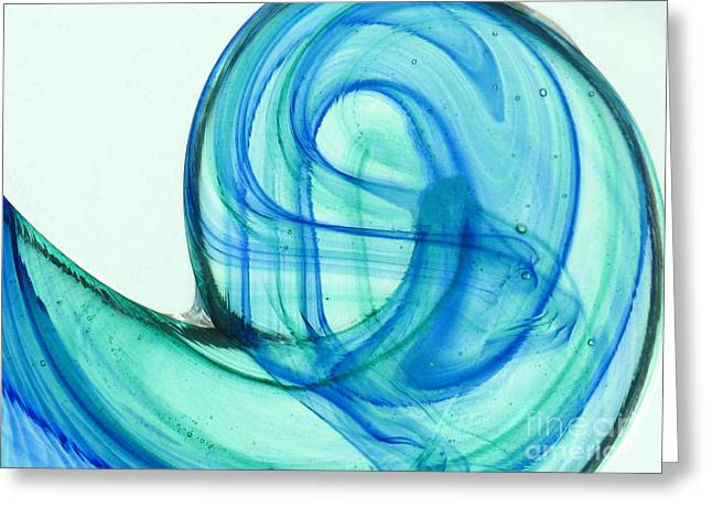 The Wave Greeting Card by Ranjini Kandasamy
