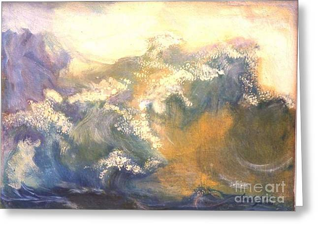 The Wave Greeting Card by Renuka Pillai