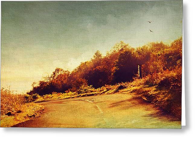 The Way Down. Trossachs National Park. Scotland Greeting Card by Jenny Rainbow