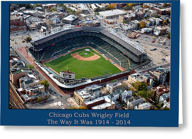 The Way It Was Chicago Cubs Wrigley Field 01 Greeting Card by Thomas Woolworth