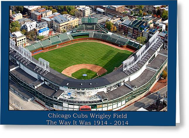 The Way It Was Chicago Cubs Wrigley Field 02 Greeting Card by Thomas Woolworth