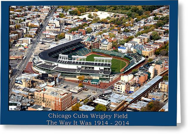 The Way It Was Chicago Cubs Wrigley Field 03 Greeting Card by Thomas Woolworth