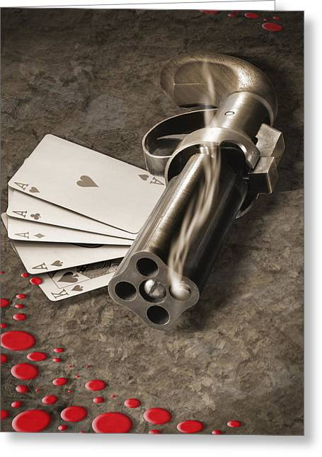 The Way Of The Gun Greeting Card by Mike McGlothlen