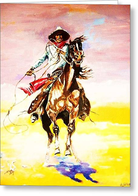 The Way Of The Vaquero Greeting Card by Al Brown