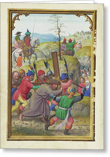The Way To Calvary Simon Bening, Flemish Greeting Card by Litz Collection