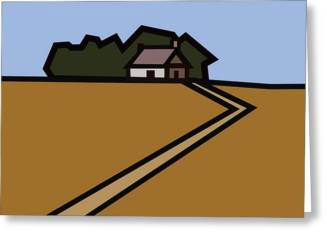 The Way To Sarah's House Greeting Card by Kenneth North