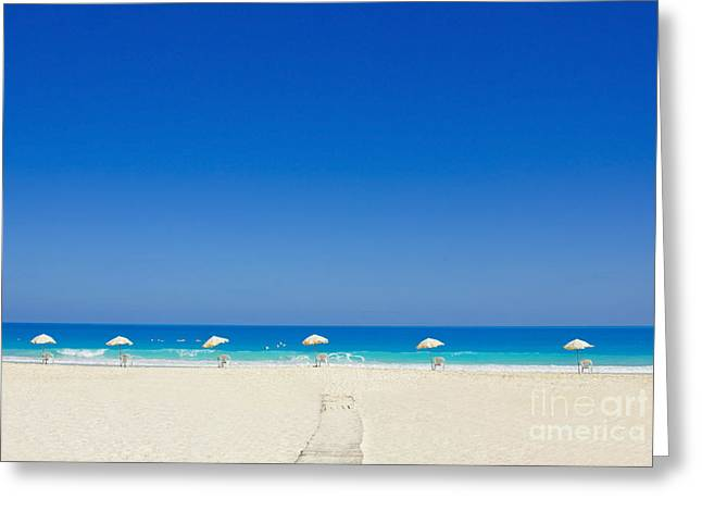 Greeting Card featuring the photograph The Way To The Beach by Mohamed Elkhamisy