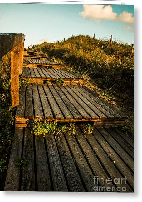 The Way To The Sea Greeting Card by Hannes Cmarits