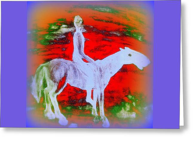 You Ride The Way You Ride But Where   Greeting Card
