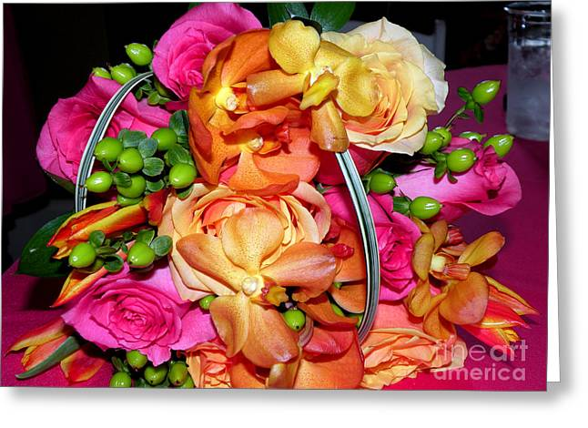 The Wedding Flowers Greeting Card by Kathy  White