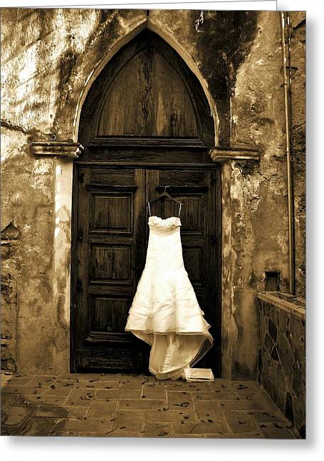 Awaiting The Bridegroom Greeting Card by  Christine  Bingon