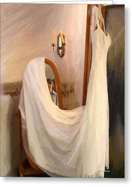 Old Town Temecula Greeting Cards - The Wedding Gown is Ready Greeting Card by Angela A Stanton