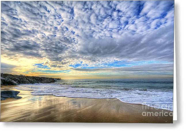 The Wedge - Newport Beach Greeting Card by Eddie Yerkish