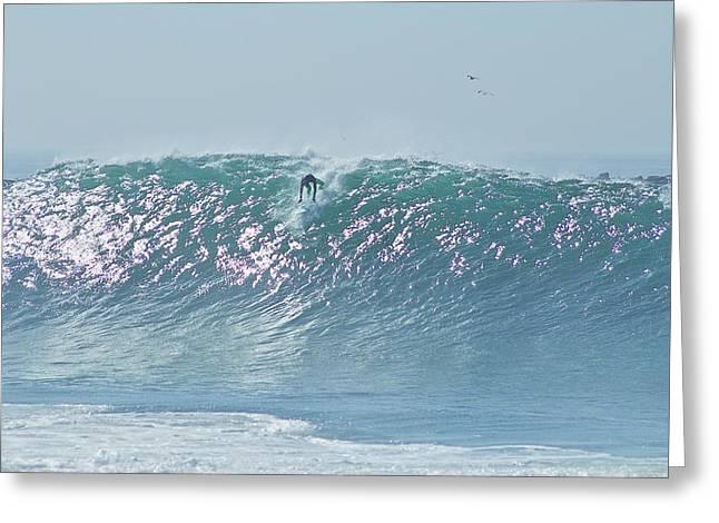 The Wedge Newport Beach Greeting Card by Richard Cheski