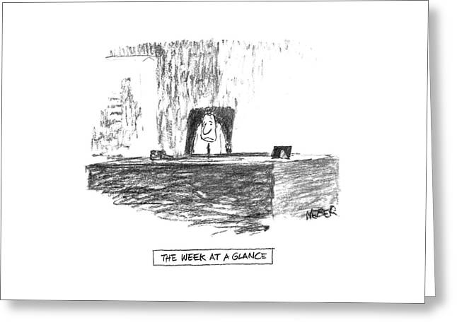 'the Week At A Glance' Greeting Card