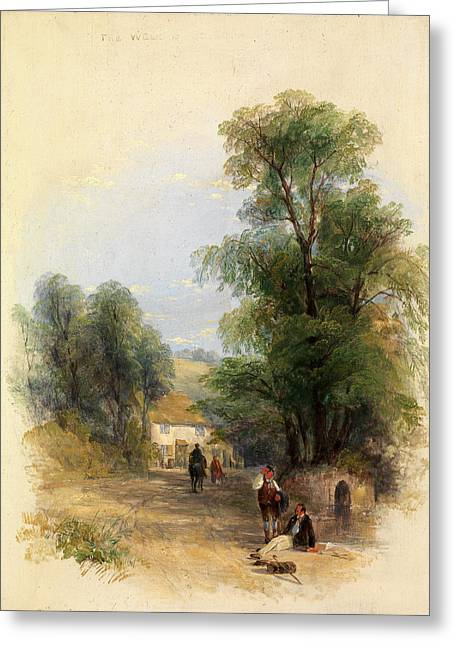 The Well Of St. Keyne, Thomas Creswick, 1811-1869 Greeting Card