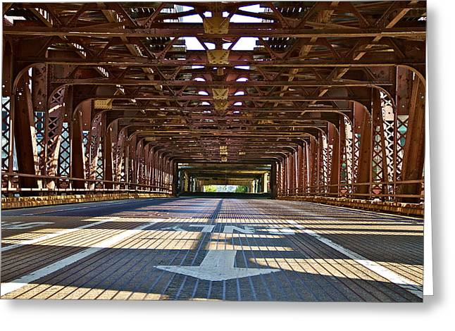 The Wells Street Bridge Greeting Card by John Babis