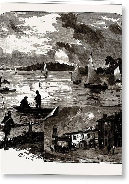 The Welsh Harp And Reservoir, Uk Greeting Card by Litz Collection