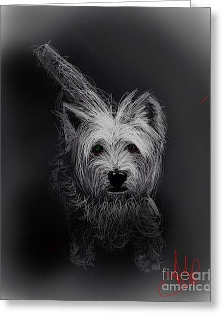 'the Westie 1 Greeting Card