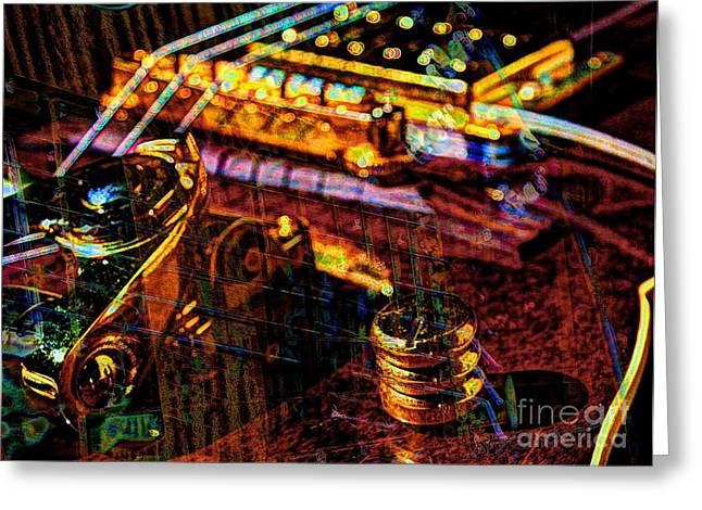 The Whammy Digital Guitar Art By Steven Langston Greeting Card by Steven Lebron Langston