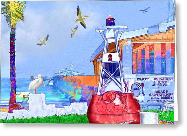 The Wharf Greeting Card by Gerry Robins