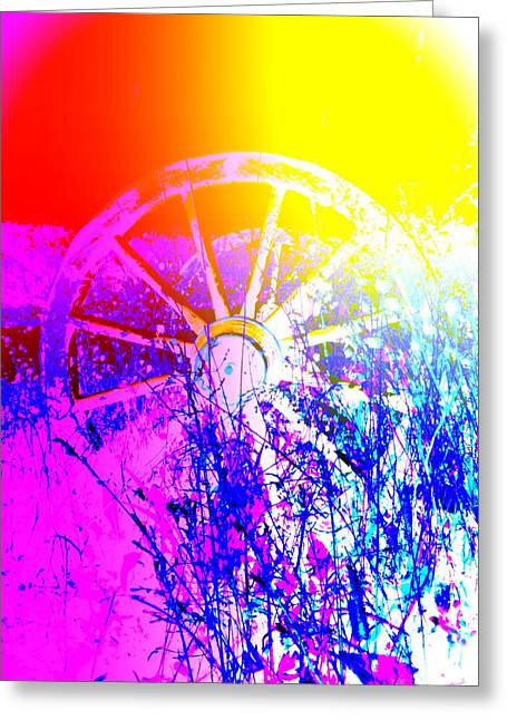 I Have A Wheel Of Colors But It's Standing Still  Greeting Card