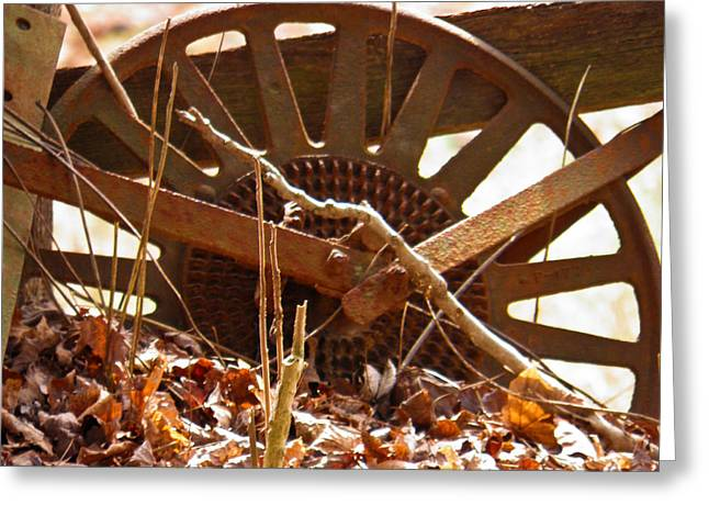Greeting Card featuring the photograph The Wheel Of Planting by Nick Kirby