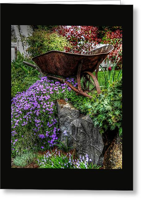 Greeting Card featuring the photograph The Whimsical Wheelbarrow by Thom Zehrfeld