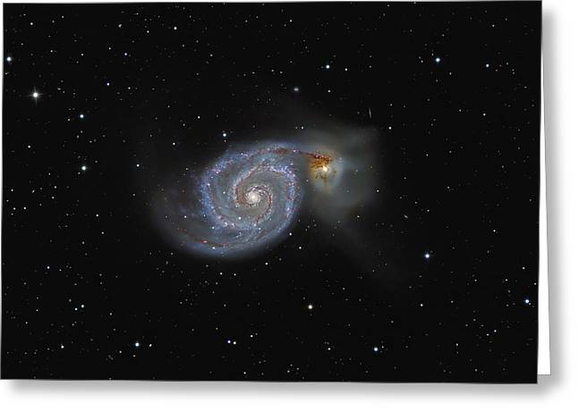 The Whirlpool Galaxy Greeting Card by Brian Peterson