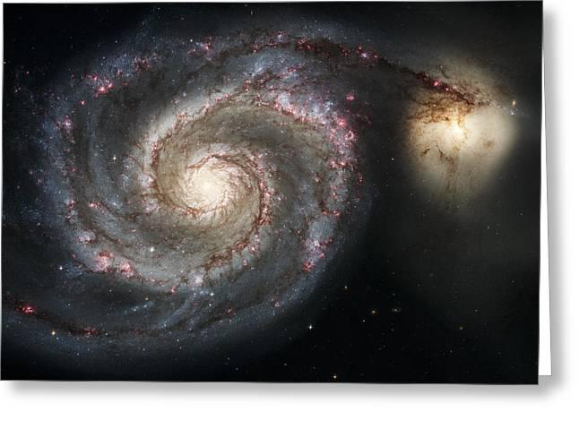 The Whirlpool Galaxy M51 And Companion Greeting Card