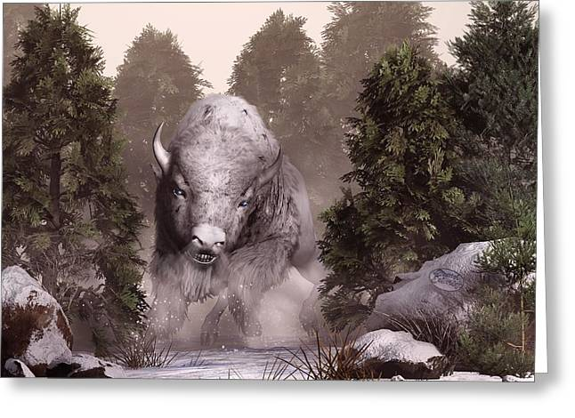 The White Buffalo Greeting Card