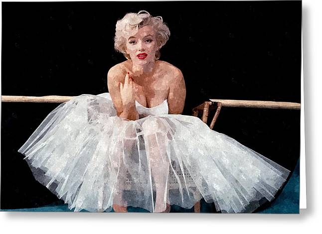 The White Dress Of Marilyn Greeting Card