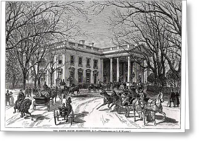 The White House 1877 Greeting Card by Charles Somerville