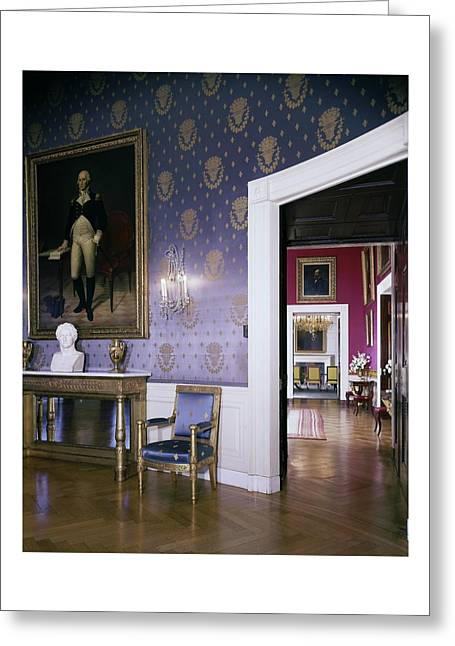 The White House Blue Room Greeting Card