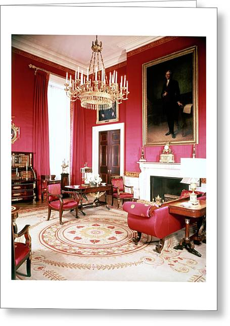 The White House Red Room Greeting Card