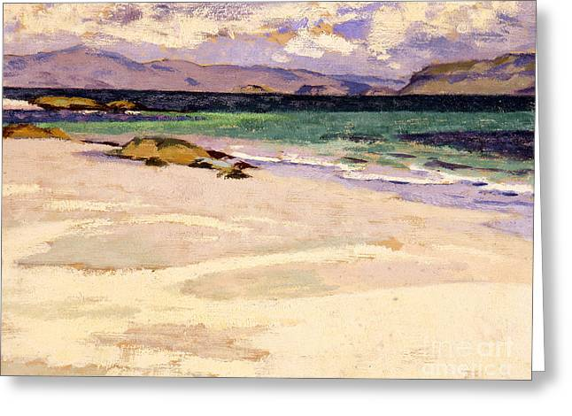 The White Strand  Iona Greeting Card