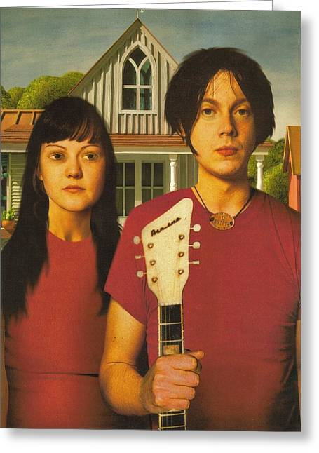 The White Stripes - American Gothic Pose Greeting Card