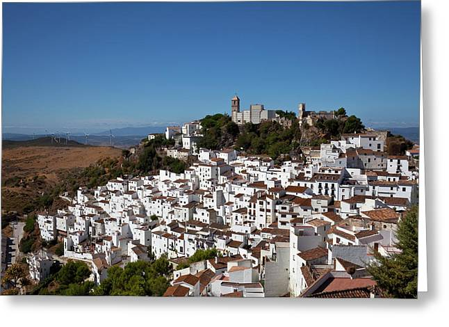 The White Villages Of Casares Greeting Card