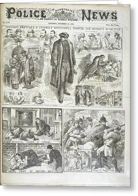 The Whitechapel Monster Greeting Card by British Library