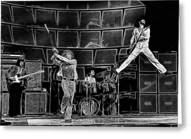 The Who - A Pencil Study - Designed By Doc Braham Greeting Card