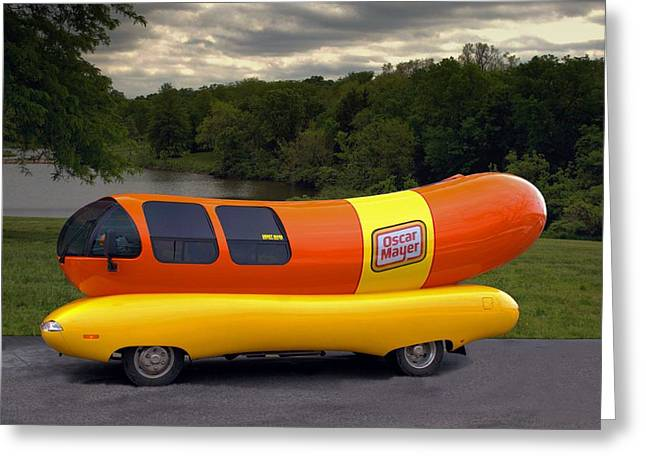 Greeting Card featuring the photograph The Wienermobile by Tim McCullough
