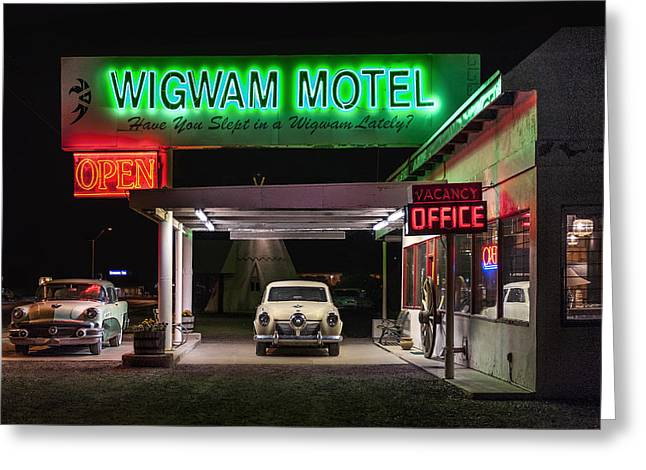The Wigwam Motel Neon Greeting Card