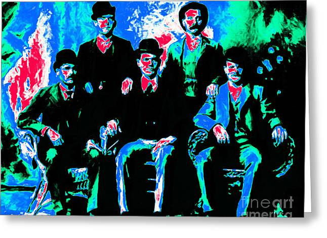 The Wild Bunch 20130212m135 Greeting Card by Wingsdomain Art and Photography