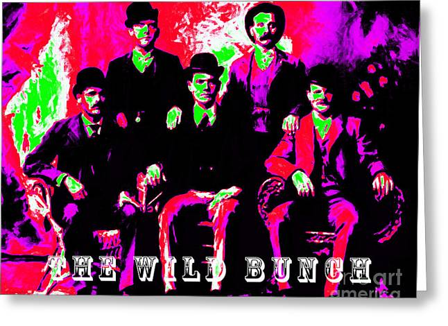 The Wild Bunch With Text 20130212 Greeting Card by Wingsdomain Art and Photography