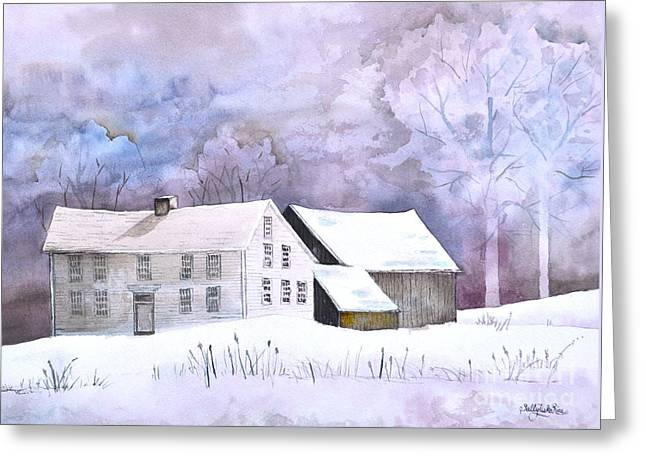 The Wilder Homestead Greeting Card by Sally Rice